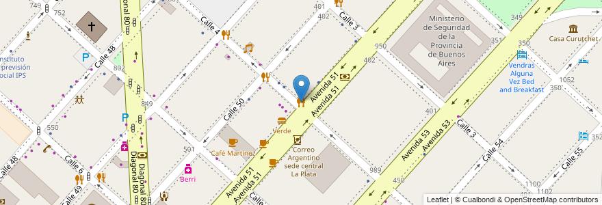 Mapa de ubicacion de Hispano, Casco Urbano en Argentina, Buenos Aires, Partido De La Plata, La Plata.