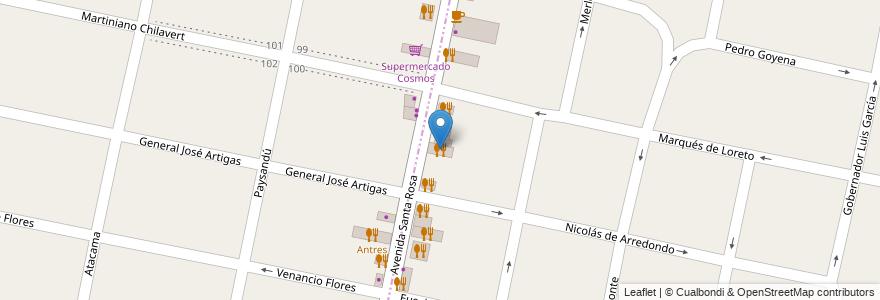 Mapa de ubicacion de Homero American Grill & Bar en Argentina, Buenos Aires, Partido De Morón, Castelar.