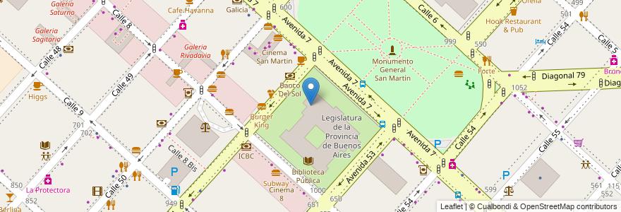 Mapa de ubicacion de Honorable Cámara de Diputados, Casco Urbano en La Plata, Partido De La Plata, Buenos Aires, Argentina.