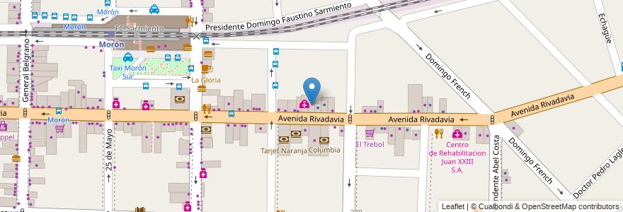 Mapa de ubicacion de Hospital Italiano en Argentina, Buenos Aires, Partido De Morón, Morón.