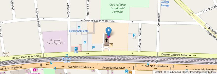 Mapa de ubicacion de Hospital San Juan de Dios en Argentina, Buenos Aires, Partido De La Matanza, Ramos Mejía.