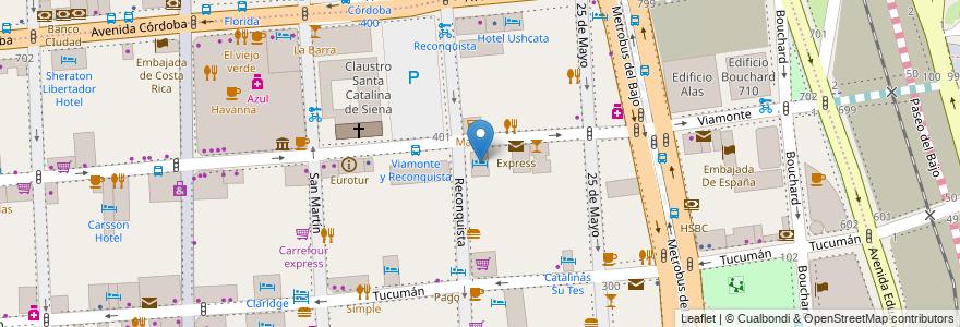 Mapa de ubicacion de Hotel Amerian, San Nicolas en Argentina, Ciudad Autónoma De Buenos Aires, Buenos Aires, Comuna 1.