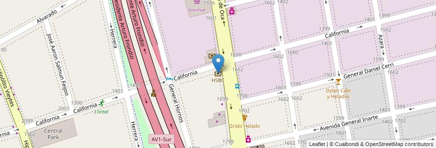 Mapa de ubicacion de HSBC, Barracas en Argentina, Ciudad Autónoma De Buenos Aires, Comuna 4, Partido De Avellaneda, Buenos Aires.