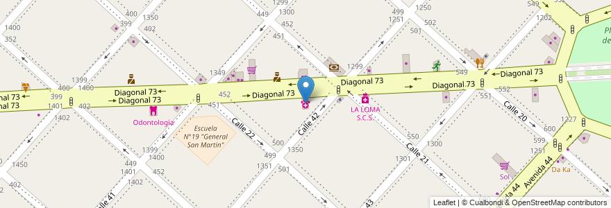 Mapa de ubicacion de Huella's, Casco Urbano en Argentina, Buenos Aires, Partido De La Plata, La Plata.