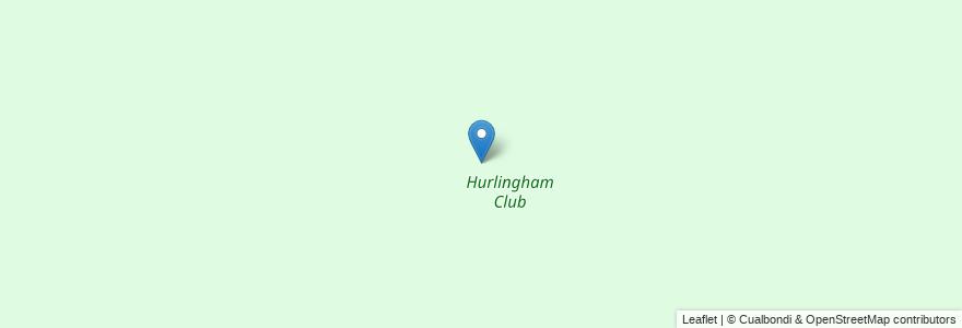 Mapa de ubicacion de Hurlingham Club en Argentina, Buenos Aires, Partido De Hurlingham, Hurlingham.