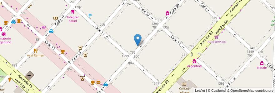 Mapa de ubicacion de IFLYSIB, Casco Urbano en Argentina, Buenos Aires, Partido De La Plata, La Plata.