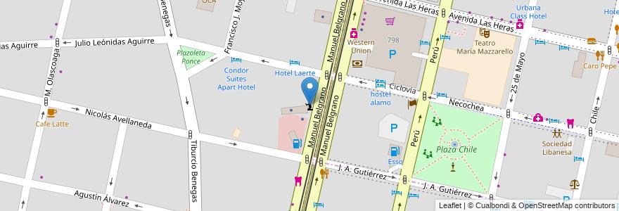 Mapa de ubicacion de Iglesia Adventista Séptimo Día en Argentina, Chile, Mendoza, Departamento Capital, Sección 5ª Residencial Sur, Ciudad De Mendoza.