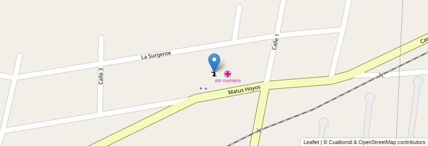 Mapa de ubicacion de Iglesia Casa de Dios en Argentina, Mendoza, Departamento Guaymallén, Distrito Colonia Segovia.