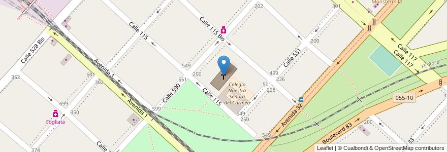 Mapa de ubicacion de Iglesia Nuestra Señora del Carmen, Tolosa en Argentina, Buenos Aires, Partido De La Plata.