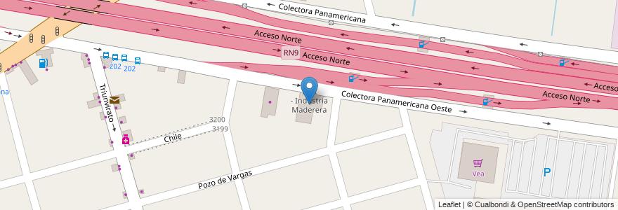 Mapa de ubicacion de IMA - Industria Maderera en Argentina, Buenos Aires, Partido De Tigre, Don Torcuato.