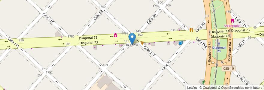 Mapa de ubicacion de In Ferro, Casco Urbano en La Plata, Partido De La Plata, Buenos Aires, Argentina.