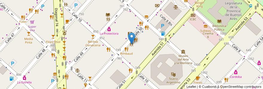 Mapa de ubicacion de Infinito Fiestas, Casco Urbano en Argentina, Buenos Aires, Partido De La Plata, La Plata.