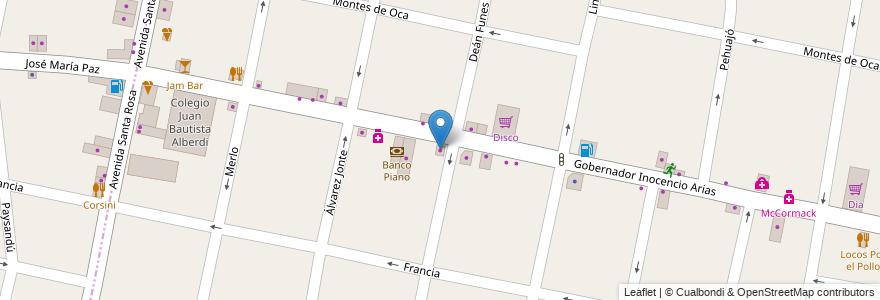 Mapa de ubicacion de Inocencio en Argentina, Buenos Aires, Partido De Morón, Castelar.