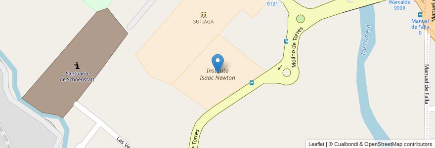 Mapa de ubicacion de Instituto Isaac Newton en Córdoba, Municipio De Córdoba, Pedanía Capital, Departamento Capital, Córdoba, Argentina.