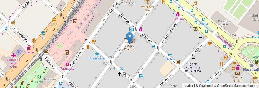 Mapa de ubicacion de Instituto Privado Colegio Palermo, Palermo en Argentina, Ciudad Autónoma De Buenos Aires, Comuna 14, Buenos Aires.