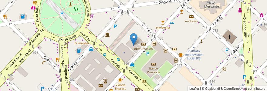 Mapa de ubicacion de Instituto Provincial de Loteria y Casinos de la Provincia de Buenos Aires, Casco Urbano en Argentina, Buenos Aires, Partido De La Plata, La Plata.