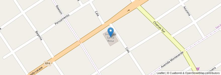 Mapa de ubicacion de Instituto Santa Rosa en Partido De Almirante Brown, Buenos Aires, Argentina.