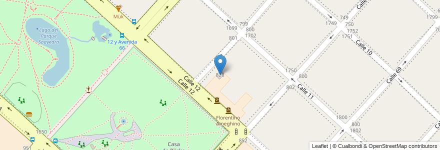 Mapa de ubicacion de INSTITUTO SUPERIOR DE FORMACION DOCENTE N° 17, Casco Urbano en Argentina, Buenos Aires, Partido De La Plata, La Plata.