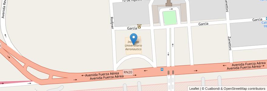 Mapa de ubicacion de Instituto Universitario Aeronautico en Córdoba, Municipio De Córdoba, Pedanía Capital, Departamento Capital, Córdoba, Argentina.