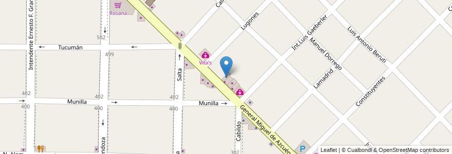 Mapa de ubicacion de Interliving en Argentina, Buenos Aires, Partido De Morón, Morón.