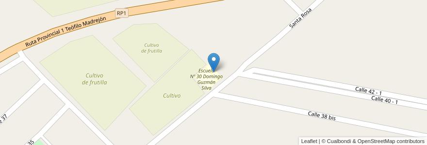 Mapa de ubicacion de Jardín de Infantes No. 281 en Argentina, Santa Fe, Departamento La Capital, Municipio De Arroyo Leyes.