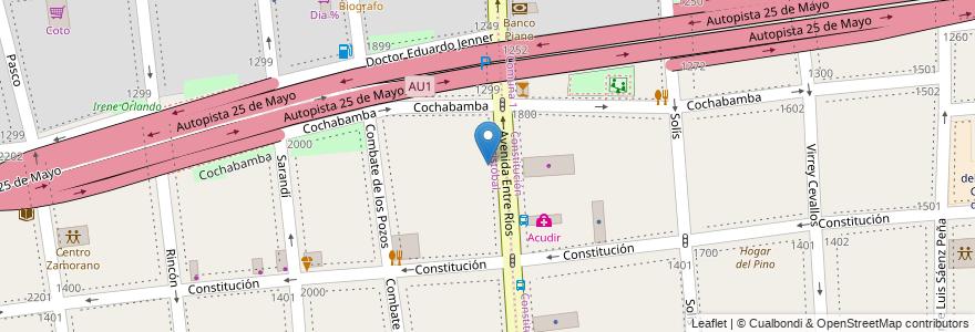 Mapa de ubicacion de Jardín de Infantes Nucleado A (EPCjc 21/03°), San Cristobal en Argentina, Ciudad Autónoma De Buenos Aires, Comuna 3, Buenos Aires.