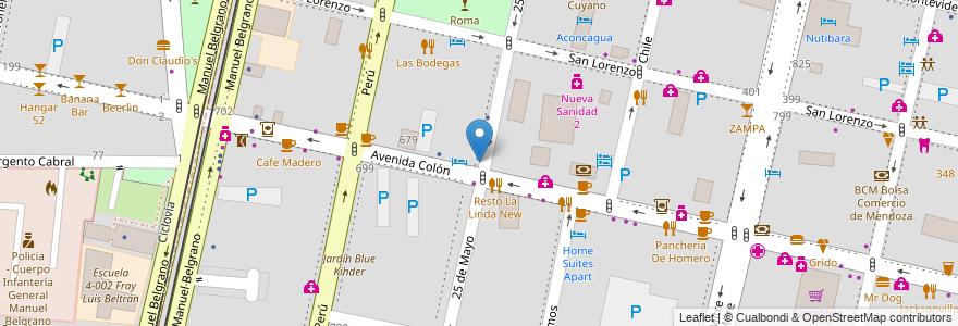 Mapa de ubicacion de Jardin Infantes Los Delfines en Argentina, Mendoza, Departamento Capital, Sección 2ª Barrio Cívico, Ciudad De Mendoza.