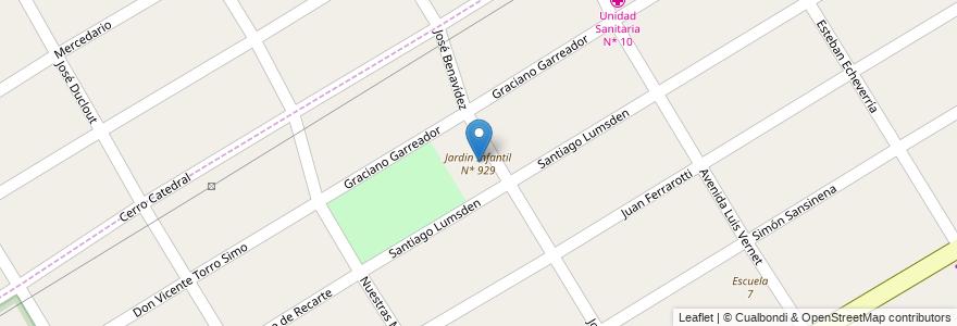 Mapa de ubicacion de Jardin Infantil N* 929 en Argentina, Buenos Aires, Partido De Esteban Echeverría, 9 De Abril.