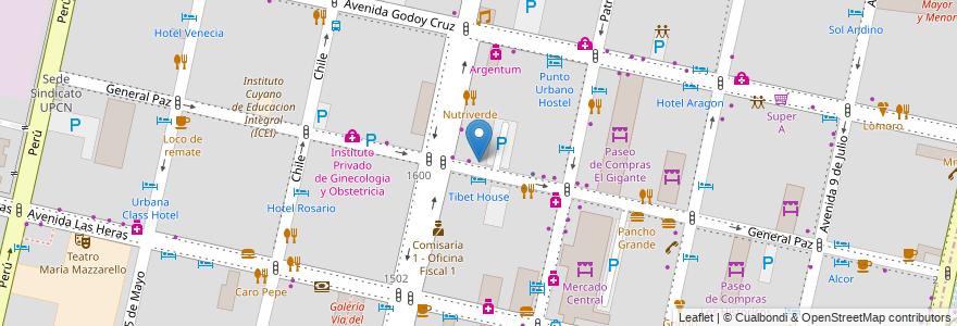 Mapa de ubicacion de Jardin Maternal Colorines en Argentina, Chile, Mendoza, Departamento Capital, Ciudad De Mendoza.