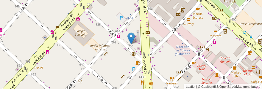 Mapa de ubicacion de Jardín Maternal Conejitos, Casco Urbano en Argentina, Buenos Aires, Partido De La Plata, La Plata.