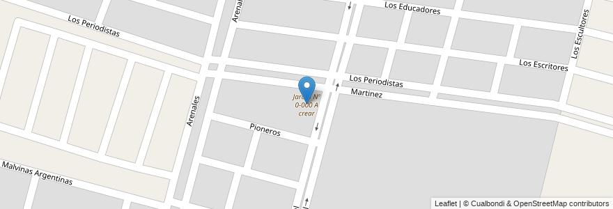 Mapa de ubicacion de Jardín Nº 0-000 A crear en Argentina, Mendoza, Maipú, Distrito Ciudad De Maipú.