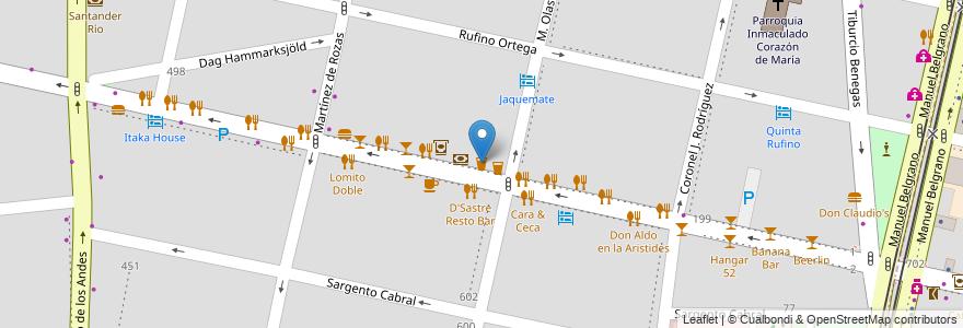 Mapa de ubicacion de Jerome Brew Pub en Argentina, Chile, Mendoza, Departamento Capital, Sección 5ª Residencial Sur, Ciudad De Mendoza.