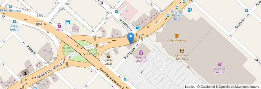 Mapa de ubicacion de Juguetería Carrousell en San Justo, Partido De La Matanza, Buenos Aires, Argentina.