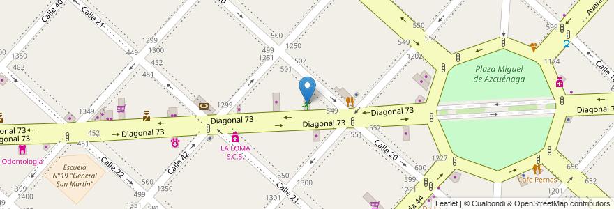Mapa de ubicacion de Kangoo Urbano, Casco Urbano en La Plata, Partido De La Plata, Buenos Aires, Argentina.