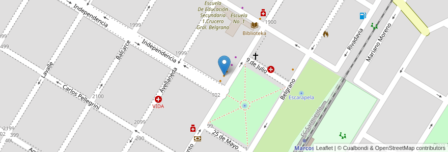Mapa de ubicacion de Kauquen en Argentina, Buenos Aires, Partido De Marcos Paz, Marcos Paz.