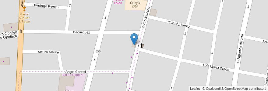 Mapa de ubicacion de Knauf Construcción Seco en Argentina, Chile, Mendoza, Godoy Cruz, Departamento Godoy Cruz, Distrito Ciudad De Godoy Cruz.