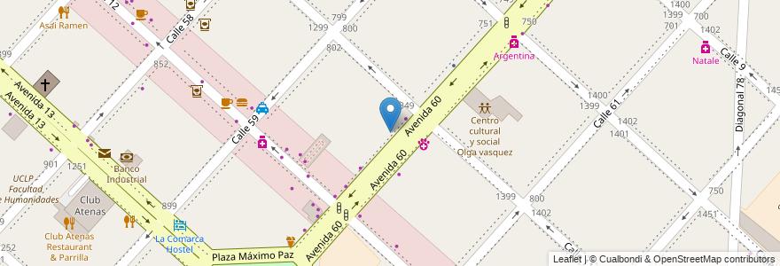 Mapa de ubicacion de Kyokushin Karate, Casco Urbano en La Plata, Partido De La Plata, Buenos Aires, Argentina.