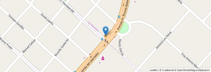 Mapa de ubicacion de La 5 en Argentina, Buenos Aires, Partido De Moreno, Partido De San Miguel, Santa María.