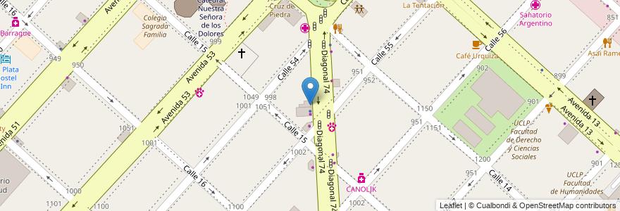 Mapa de ubicacion de La Empanatta, Casco Urbano en Argentina, Buenos Aires, Partido De La Plata, La Plata.