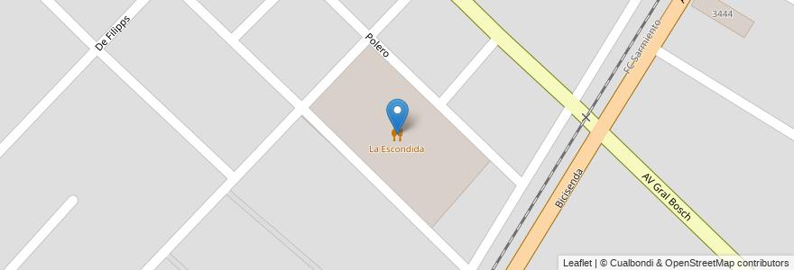 Mapa de ubicacion de La Escondida en Argentina, Buenos Aires, Partido De Marcos Paz, Marcos Paz.