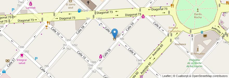 Mapa de ubicacion de La linda Eventos, Casco Urbano en Argentina, Buenos Aires, Partido De La Plata, La Plata.