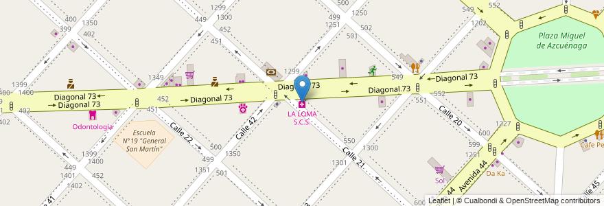 Mapa de ubicacion de LA LOMA S.C.S., Casco Urbano en La Plata, Partido De La Plata, Buenos Aires, Argentina.