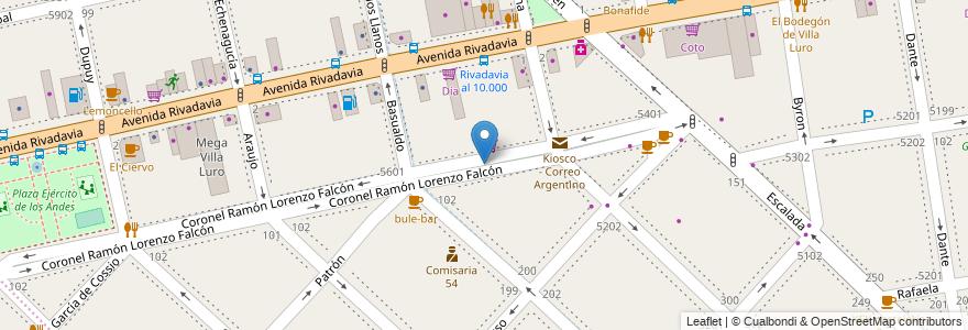 Mapa de ubicacion de La Patagonia Rebelde (Paseo del Cine), Villa Luro en Argentina, Ciudad Autónoma De Buenos Aires, Buenos Aires, Comuna 9, Comuna 10.