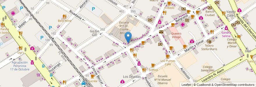 Mapa de ubicacion de La Primavera Casa en San Isidro, Partido De San Isidro, Buenos Aires, Argentina.