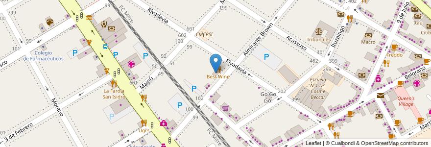 Mapa de ubicacion de Laboratorio Hidalgo en Argentina, Buenos Aires, Partido De San Isidro, San Isidro.