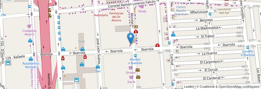 Mapa de ubicacion de Las Delicias, Liniers en Argentina, Ciudad Autónoma De Buenos Aires, Buenos Aires, Comuna 9.