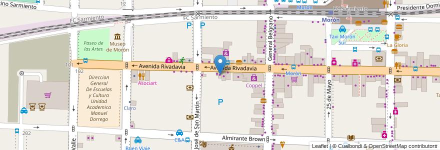 Mapa de ubicacion de Las Perlas en Argentina, Buenos Aires, Partido De Morón, Morón.
