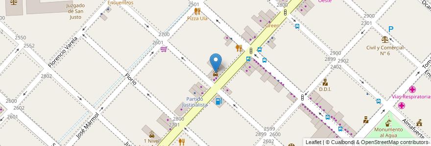 Mapa de ubicacion de Lava Autos Clean Car en Argentina, Buenos Aires, Partido De La Matanza, San Justo.