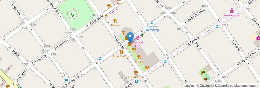 Mapa de ubicacion de Le Blé, Villa Urquiza en Argentina, Ciudad Autónoma De Buenos Aires, Comuna 12, Buenos Aires.