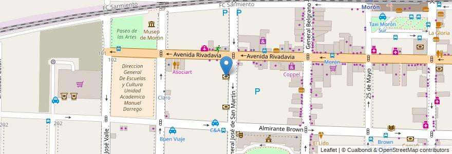 Mapa de ubicacion de Macro en Argentina, Buenos Aires, Partido De Morón, Morón.